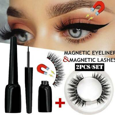 Waterproof Magnetic Eyeliner with 1 Pairs Five-Magnets Eyelashes 3D Eye Makeup