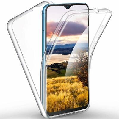 For Samsung Galaxy A20 E Full Body 360° Silicone Clear Gel Case Cover Front+Back