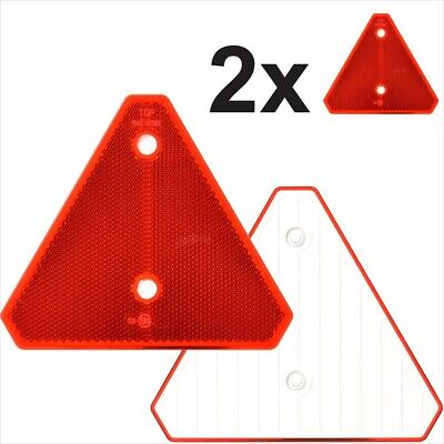 2x Triangular Red Trailers Reflectors Screw fit Rear Triangle Pair caravan moto
