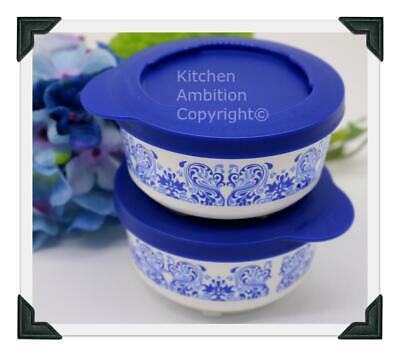 Brand New TUPPERWARE 6 oz. Snack Lunch Cups Country Wave Design Twist Seal #Y