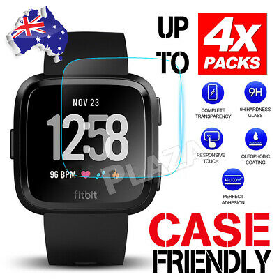 2x/4x Fitbit Versa Screen Protector 9H Tempered Full Coverage Glass Guard