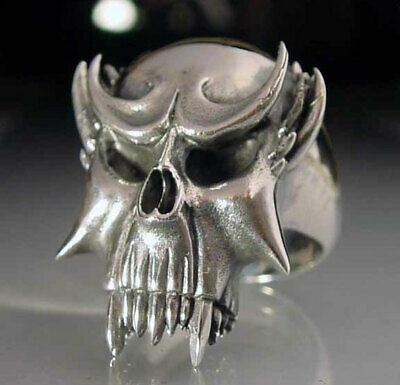 Details about  /Stainless Ghost of the vietnam war Skull Biker Ring Custom Sized War R-175ss