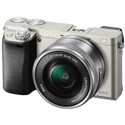 Sony Alpha A6000 Mirrorless DSLR 24.3 MP with E PZ OSS 16-50mm Lens - Silver