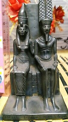 Statue of King Menkaure and his wife 2490–2472 B.C Hand made