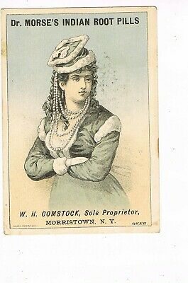 ANTIQUE ADVERTISING / TRADE Card     DR. MORSE'S INDIAN ROOT PILLS