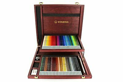 Crayon fusains pastel - STABILO CarbOthello - Coffret bois 60 crayons + taille-
