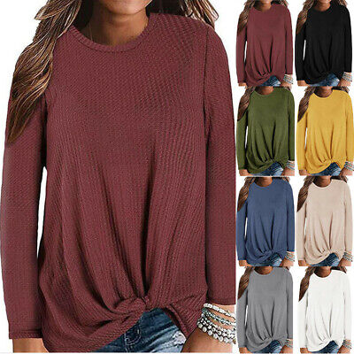 Womens Long Sleeve Loose Fit Sweater Blouse Tops Pullover T-shirt Sweatshirt