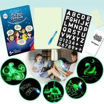 Educational Draw With Light Fun & Developing Toy Drawing Magic Draw Board Gifts