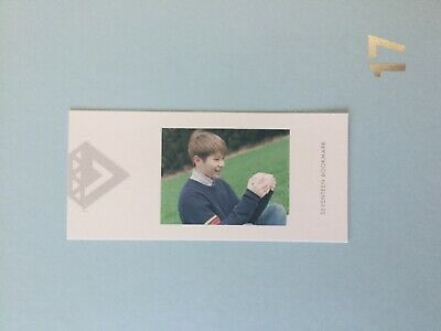 Seventeen Woozi Love and Letter Japanese Version bookmark photocard