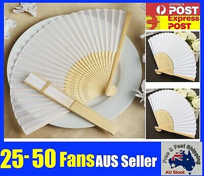 Bulk Chinese Hand Folding Bamboo Wooden Paper Fan White Red Black