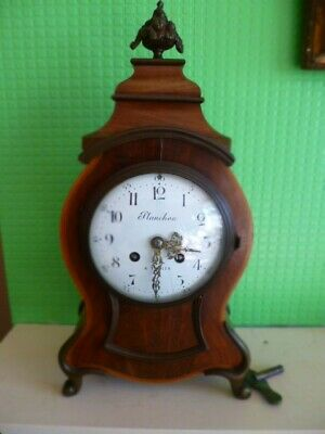 Beautiful Antique French Mahogany Mantle Clock By S. Marti