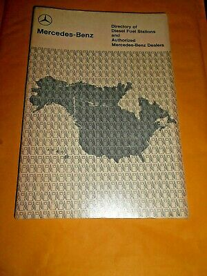 1978 copyright Mercedes Diesel Fuel Maps & Directory Book fuel stations Dealers