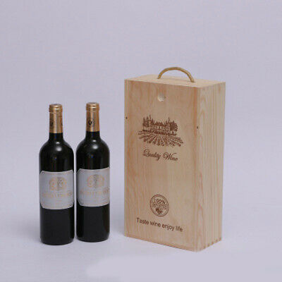 1 PC Red Wine Box Retro Vintage Wooden Wine Box Storage Box for Gifts