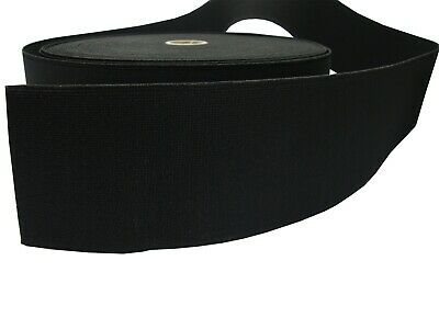70mm 100mm Wide Flat Black Strong Woven Elastic Sewing Dressmaking Tape Band