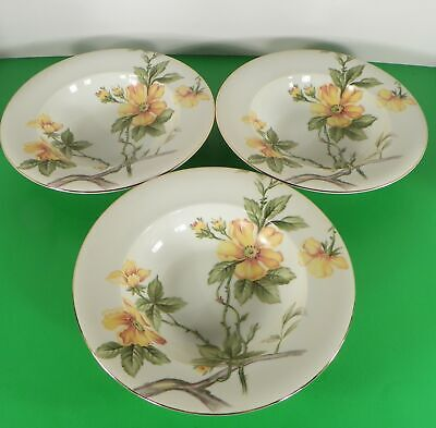 Meito China Norleans SUN GLORY Rim Soup Pasta Bowl (s) LOT OF 3 Occupied Japan