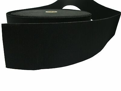 15 20 50 70 80 100mm Wide Flat Black STRONG Woven Elastic Band Sewing Dressmakin