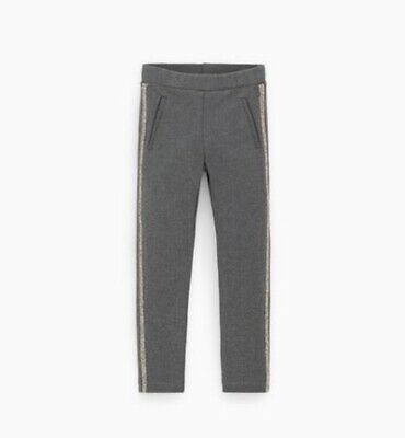Zara Girls Trousers With Shiny Side Trim Size 5 Years