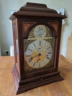 Hermle Cornell English Bracket Mantle Clock 8 Day Westminster - 22848-070352