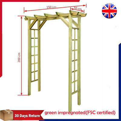 Wooden Garden Rose Arch Arbour Pergola Archway Climbing Plants Frame Entryway