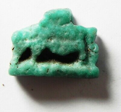 ZURQIEH -as14419- ANCIENT EGYPT,  FAIENCE SOW AMULET. 600 - 300 B.C