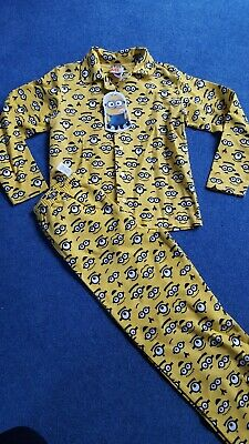 Minions Pyjamas Boys Character Despicable Me Pjs Short Sleeve 6-12 yrs Official