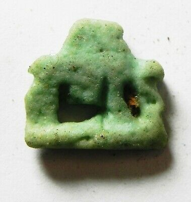 ZURQIEH -as14420- ANCIENT EGYPT,  FAIENCE SOW AMULET. 600 - 300 B.C