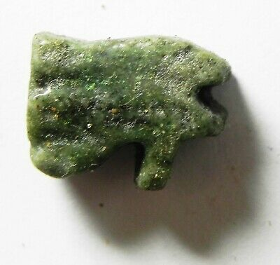 ZURQIEH -as14428- ANCIENT EGYPT,  FAIENCE EYE OF HORUS AMULET. 600 - 300 B.C