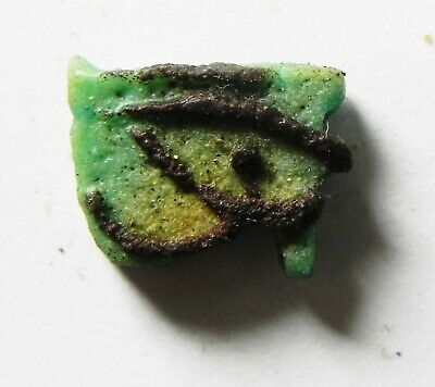 ZURQIEH -as14431- ANCIENT EGYPT,  FAIENCE EYE OF HORUS AMULET. 600 - 300 B.C
