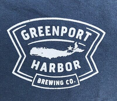 Greenport Harbor Beer Brewing Company Shirt, Prevents Scurvy, Blue, M, New York