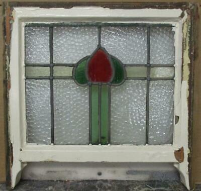 "OLD ENGLISH LEADED STAINED GLASS SASH WINDOW Cute Abstract Band 18.25"" x 15"""