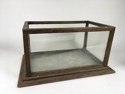Antique 19th c. Stepped Base Wood Frame Aquarium
