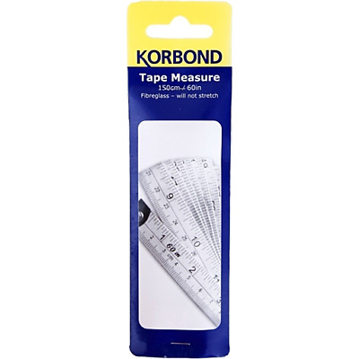 New Korbond White Sewing Body Measuring Ruler Tailor Tape Measure Single Pack