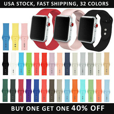 Replacement Silicone Band Strap For Apple Watch Series 5/4/3/2/1 38/40/42/44mm