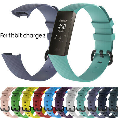 3 Band Silicone Bracelet Wrist Strap Replacement Wristband For Fitbit Charge 3