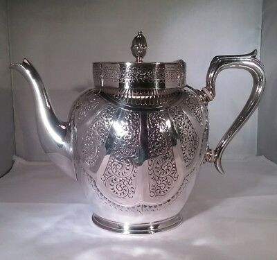 Antique silver plated teapot Mark Willis, Sheffield c.1880