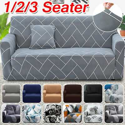 1/2/3 Seater Sofa Settee Covers Couch Slipcovers Stretch Elastic Fabric Washable