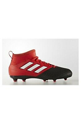 SCARPA CALCIO ADIDAS ACE 17.3 FG JR FOOTBALL CALZINO RED