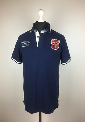 Hackett London Rally Club Mens Polo Shirt 100% Cotton Size M