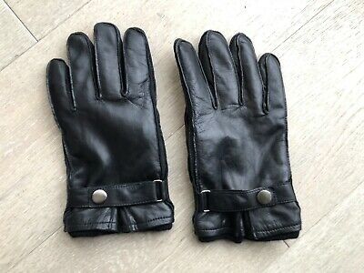 Orvis Black Leather Cashmere Lined Gloves ,  Size 7 1/2