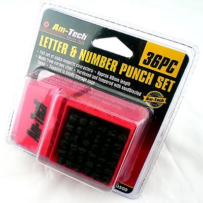 Number Letter Stamp Set Identity Security Plate Tag Date Name Title Metal