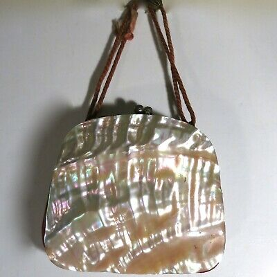 Vintage Antique Mother or Pearl MOP Coin Purse