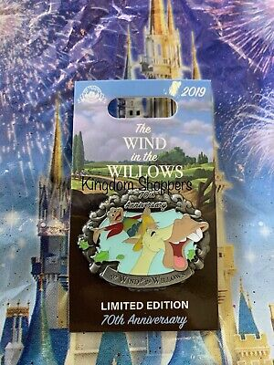 New Disney Parks LE Pin The Wind & The Willows 70th Anniversary Mr. Toad