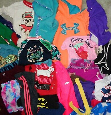 Girls Lot S Under Armour Nike Adidas Columbia Pants T Shirt Hoodie Shorts Jacket