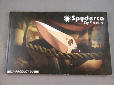 Spyderco USA Knives OpFocus 2014 Knife Company Product Guide Catalog