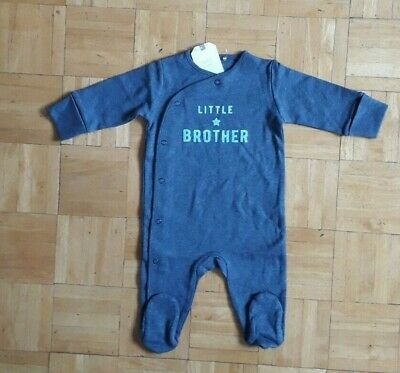 BNWT baby boys Navy Little Brother Sleepsuit 0-1 0-3-6-9-12-18 months NEXT