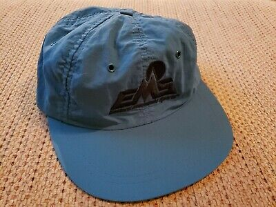 Vintage Eastern Mountain Sports EMS Nylon Cap Outdoor Camping Hat RARE