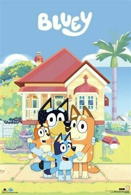 Bluey - Family House POSTER 61x91cm NEW Blue Bingo Bandit Chilli Heeler cast