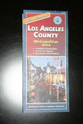 AAA MAP— City series— Los Angeles County-metropolitan area