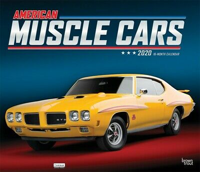 American Muscle Cars - 2020 Deluxe Wall Calendar - 411558