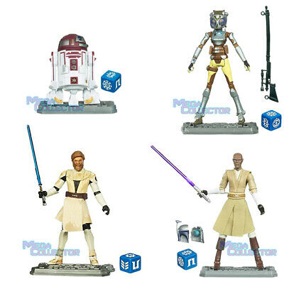 Star Wars Clone Wars Animated Geonosis Obi-Wan Kenobi Count Dooku Ariculated